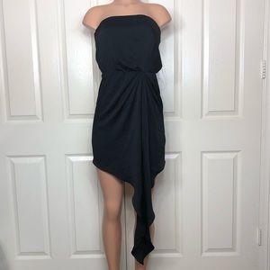 Express Strapless Asymmetrical Hem Dress XS